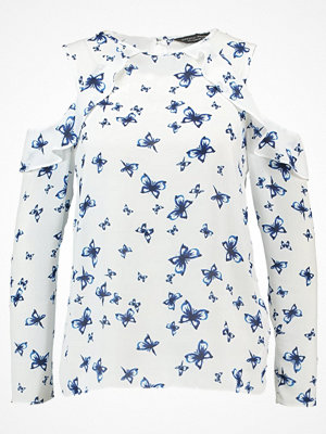 Blusar - Dorothy Perkins BUTTERFLY LONG SLEEVED Blus white
