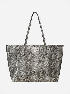 Even&Odd grå mönstrad shopper Shoppingväska white