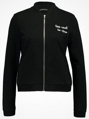 Street & luvtröjor - Even&Odd EMBROIDERED Sweatshirt black