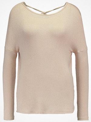 Topshop TIE BACK CUT N SEW  Stickad tröja nude