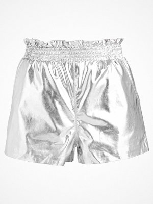 Shorts & kortbyxor - Topshop PAPERBAG SHORT Shorts silver
