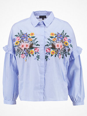 Topshop FOREST FLORAL  Skjorta light blue