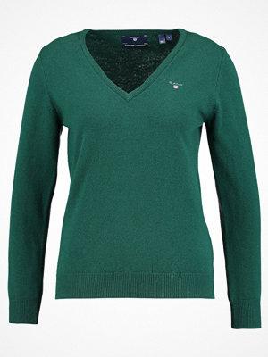 Gant SUPER FINE VNECK Stickad tröja tartan green