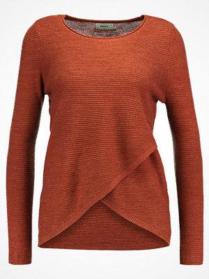 Only ONLPI WRAP  Stickad tröja cherry mahogany/melange