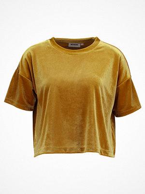 Weekday ELENA Tshirt med tryck gold