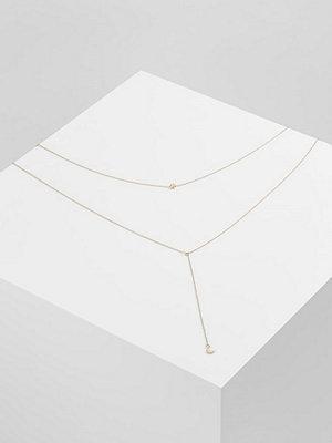Topshop FINE STAR LARIAT Halsband goldcoloured