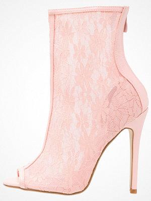 BEBO BLICK  Klassiska stövletter pink/nude