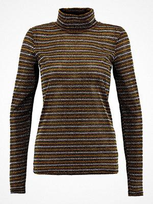 Gestuz ARYA ROLLNECK MA17 Stickad tröja yellow/green stripe
