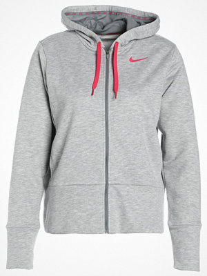 Nike Performance DRY  Sweatshirt dk grey heather/cool grey/rush pink/rush pink