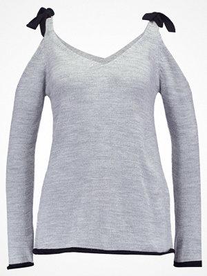 Anna Field Stickad tröja mottled grey/ black