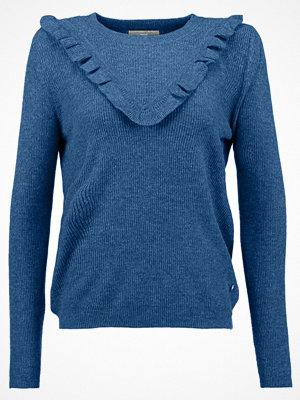 Tom Tailor Denim STRUCTURED RUFFLE Stickad tröja mottled light blue