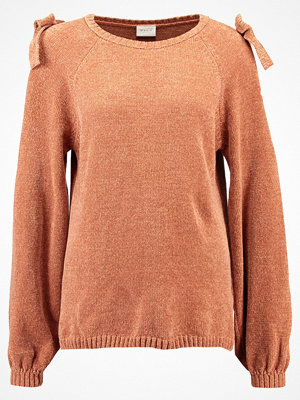 Vila VICAP  Stickad tröja copper brown