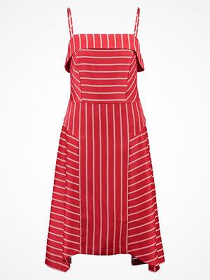 Banana Republic STRAPPY SEAMED DRESS SARAH STRIPE Sommarklänning deep red