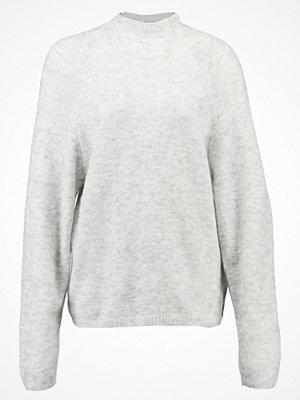 Vila VICANT  Stickad tröja light grey melange