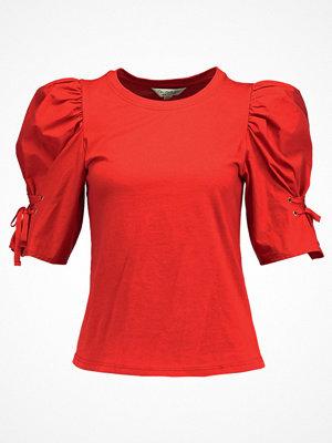 Miss Selfridge POPLIN VOLUME SLV  Tshirt med tryck red