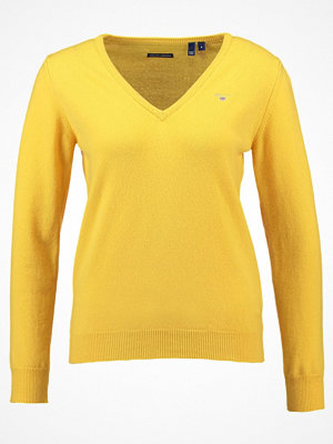 Gant SUPER FINE VNECK Stickad tröja golden yellow