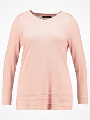 Evans LONG SLEEVE V NECK PARIS  Stickad tröja pink