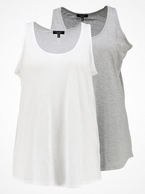New Look Curves CURVES VEST 2PACK Linne grey & white
