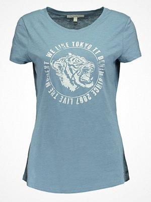 Tom Tailor Denim EASY TIGER Tshirt med tryck light blue indigo