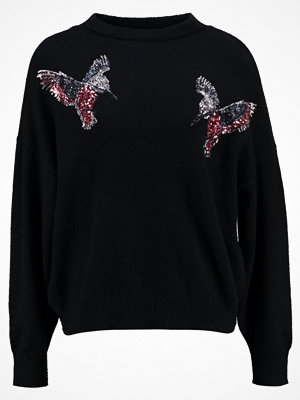 Vero Moda VMBIRDIE FUNNELNECK Stickad tröja black beauty/sequins birds