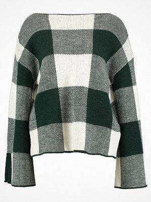 mint&berry Stickad tröja green/offwhite