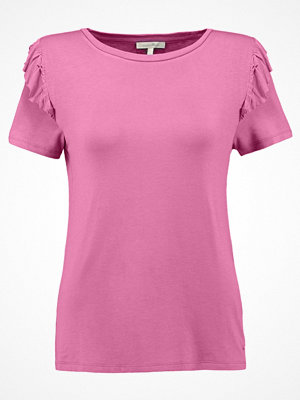 Tom Tailor Denim RUFFLE Tshirt med tryck washed berry