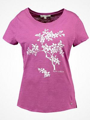 Tom Tailor Denim EASY FLOWER Tshirt med tryck washed berry