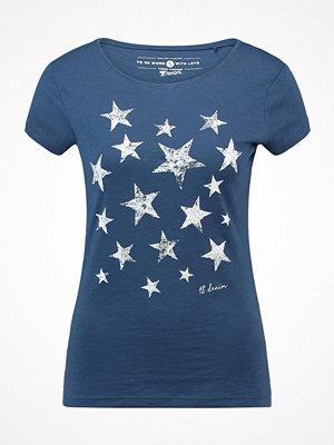Tom Tailor Denim FITTED PRINT Tshirt med tryck denim like blue