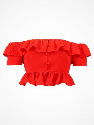 Fashion Union Petite KERRY RUCHED BARDOT Blus orange