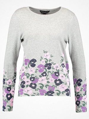 Dorothy Perkins FLORAL PRINT HEM JUMPER Stickad tröja grey