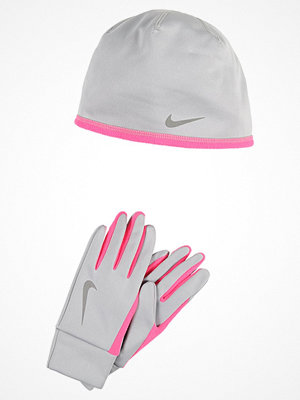 Nike Performance WOMENS RUN THERMAL HAT AND GLOVE SET Fingervantar wolf grey/hyper pink/silver