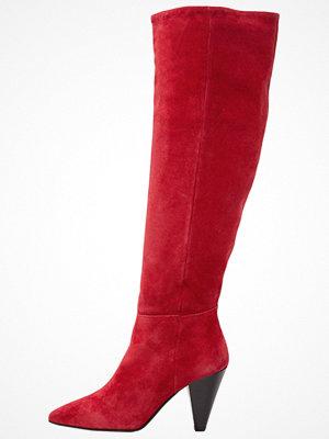 Topshop BOX SLOUCH HI LEG  Overkneeskor red
