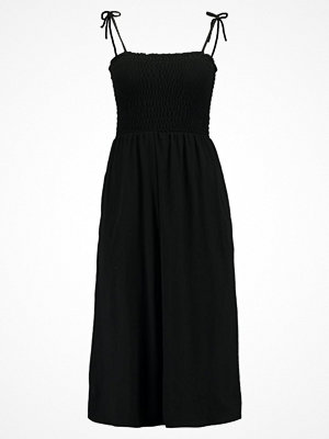 Topshop TIE SHIRRED BARDOT Jerseyklänning black