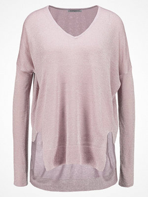 Glamorous Tall VNECK PULLOVER Stickad tröja light pink metalic