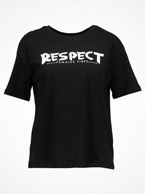 Even&Odd Tshirt med tryck black
