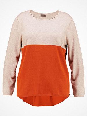 Open End COLORS BLOCK Stickad tröja rust