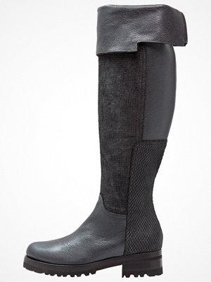 Franco Russo Napoli Overkneeskor med armor nero