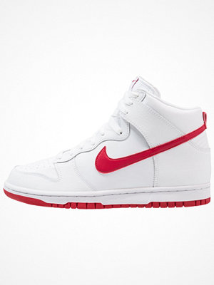 Nike Sportswear DUNK HI Höga sneakers white/gym red