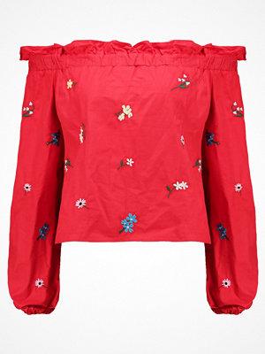 Topshop FLORAL Blus red