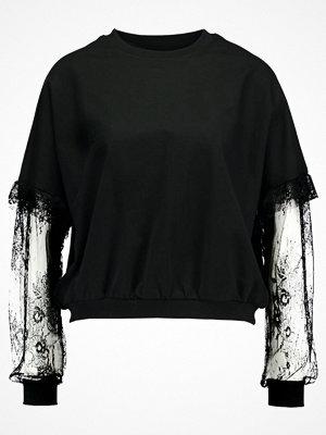 Even&Odd SLEEVE RUFFLE Sweatshirt black