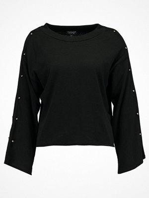 Topshop BAR SLEEVE  Stickad tröja black