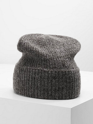 Mössor - Only ONLLESLIE HAT ACC Mössa dark grey melange