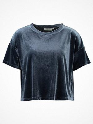 Weekday ELENA Tshirt med tryck navy