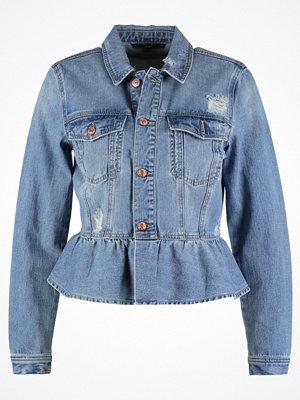 Vero Moda VMMERNY RUFFLE Jeansjacka medium blue denim