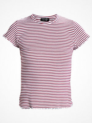 Topshop LETTUCE STRIPE FRILL Tshirt med tryck monochrome