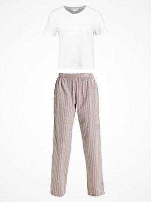 Pyjamas & myskläder - Even&Odd Pyjamas offwhite/bordeaux