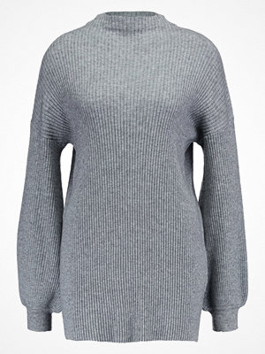 Vero Moda VMELLA BALOON SLEEVE Stickad tröja light grey melange