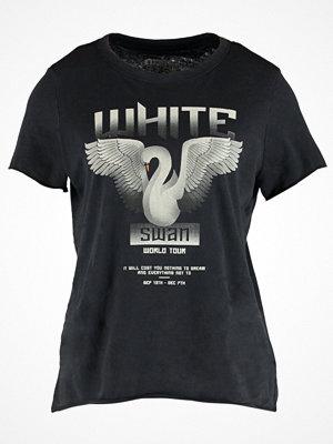 Only ONLMOLLIE LOTUS SWAN Tshirt med tryck black/swan