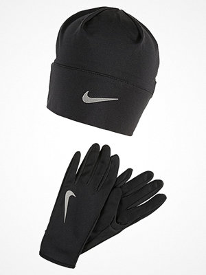 Mössor - Nike Performance WOMENS RUN DRY HAT AND GLOVE SET Fingervantar black/black/silver