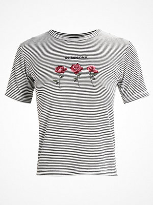 Topshop ROMANCE ROSE STRIPE  Tshirt med tryck monochrome
